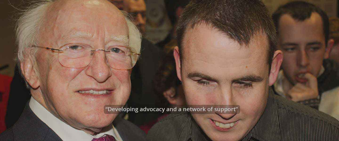 President Higgins with Stephen Prosper Fingal