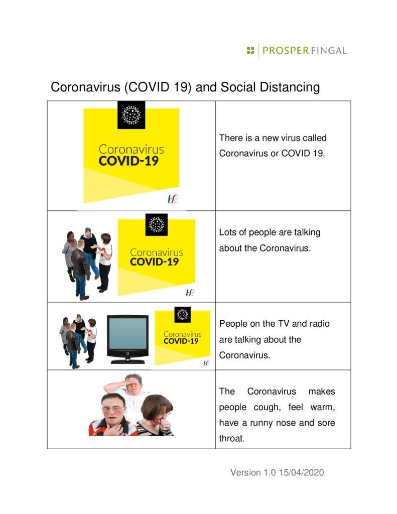 thumbnail of Coronavirus and Social Distancing Easy Read